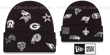 NFL 'NFC TOTAL LOGO' Black Knit Beanie Hat by New Era