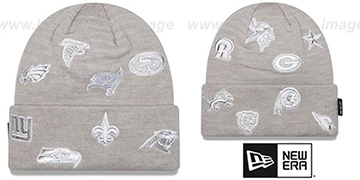 NFL NFC TOTAL LOGO Grey Knit Beanie Hat by New Era