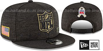 NFL Shield  2020 SALUTE-TO-SERVICE SNAPBACK ST Black Hat by New Era