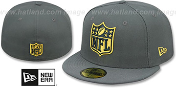NFL SHIELD-LOGO Charcoal Hat by New Era