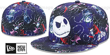 Nightmare Before Christmas 'JACK ALL-OVER' Multi Fitted Hat by New Era