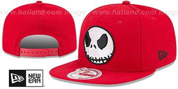 Nightmare Before Christmas 'JACK GLOW' Red Snapback Hat by New Era