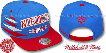 Nordiques '2T DIAMONDS SNAPBACK' Royal-Red Adjustable Hat by Mitchell & Ness