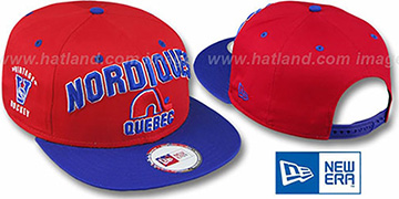 Nordiques 2T PAYDIRT SNAPBACK Red-Royal Adjustable Hat by New Era
