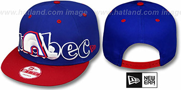 Nordiques 'BIG CITY PUNCH SNAPBACK' Royal-Red Hat by New Era