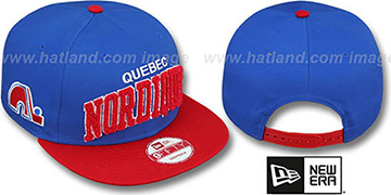 Nordiques 'CHENILLE-ARCH SNAPBACK' Blue-Red Hat by New Era