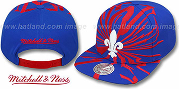 Nordiques EARTHQUAKE SNAPBACK Royal Hat by Mitchell & Ness