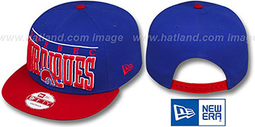 Nordiques 'LE-ARCH SNAPBACK' Royal-Red Hat by New Era