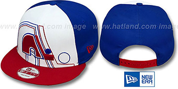 Nordiques 'LITTLE-BIG POP SNAPBACK' White-Royal-Red Hat by New Era