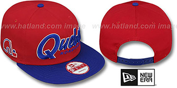 Nordiques SNAP-IT-BACK SNAPBACK Red-Royal Hat by New Era