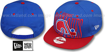 Nordiques 'STEP-ABOVE SNAPBACK' Blue-Red Hat by New Era