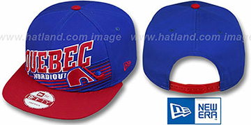 Nordiques STILL ANGLIN SNAPBACK Royal-Red Hat by New Era
