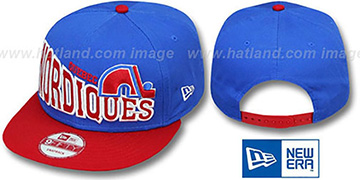 Nordiques STOKED SNAPBACK Blue-Red Hat by New Era