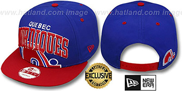Nordiques 'SUPER-LOGO ARCH SNAPBACK' Royal-Red Hat by New Era