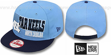 North Carolina '2T BORDERLINE SNAPBACK' Sky-Navy Hat by New Era