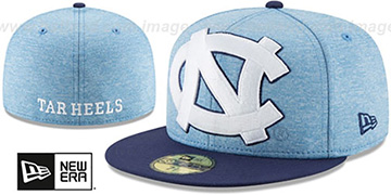 North Carolina HEATHER-HUGE 2 Sky-Navy Fitted Hat by New Era