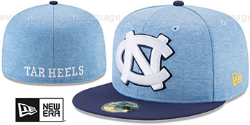 North Carolina 'HEATHER-HUGE' Sky-Navy Fitted Hat by New Era