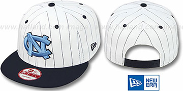 North Carolina 'PINSTRIPE BITD SNAPBACK' White-Navy Hat by New Era
