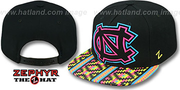 North Carolina RAVE-2 SNAPBACK Black Hat by Zephyr