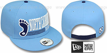 North Carolina 'RETRO-SNAPBACK' Sky Hat by New Era