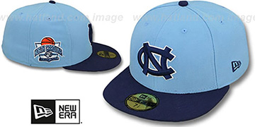 North Carolina 'SIDE BASKETBALL-PATCH' Sky-Navy Fitted Hat by New Era