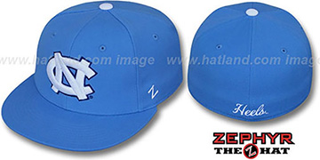 North Carolina 'SLIDER' Light Blue Fitted Hat by Zephyr