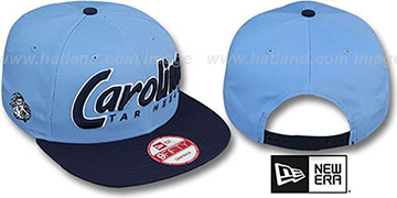 North Carolina SNAP-IT-BACK SNAPBACK Sky-Navy Hat by New Era