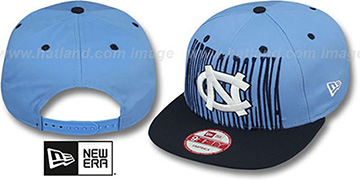 North Carolina STEP-ABOVE SNAPBACK Sky-Navy Hat by New Era