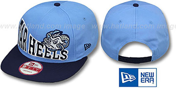 North Carolina 'STOKED SNAPBACK' Sky-Navy Hat by New Era