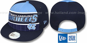 North Carolina 'WARM-UP SNAPBACK' Navy-Sky Hat by New Era