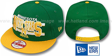 North Stars WORDSTRIPE SNAPBACK Green-Gold Hat by New Era