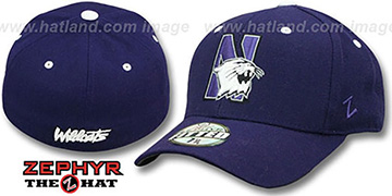 Northwestern 'DH' Purple Fitted Hat by Zephyr