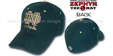 Notre Dame 'DH' Fitted Hat by ZEPHYR - green