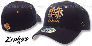 Notre Dame 'DH' Fitted Hat by ZEPHYR - navy