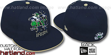 Notre Dame 'INSIDER BIG-ONE' Navy Fitted Hat by New Era