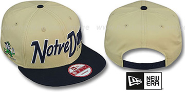 Notre Dame SNAP-IT-BACK SNAPBACK Gold-Navy Hat by New Era