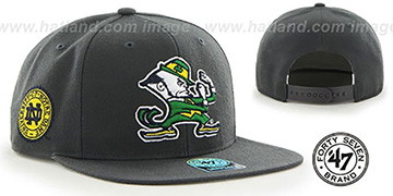 Notre Dame 'SURE-SHOT SNAPBACK' Grey Hat by Twins 47 Brand