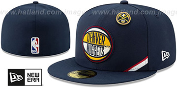 Nuggets '2019 NBA DRAFT' Navy Fitted Hat by New Era