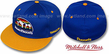 Nuggets '2T BP-MESH' Royal-Gold Fitted Hat by Mitchell & Ness