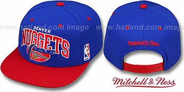 Nuggets 2T TEAM ARCH SNAPBACK Adjustable Hat by Mitchell & Ness