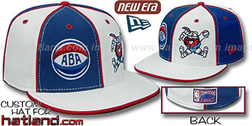 Nuggets ABA 'DOUBLE WHAMMY-3' Royal-White Fitted Hat