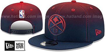 Nuggets BACK HALF FADE SNAPBACK Hat by New Era