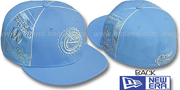 Nuggets 'C-NOTE' Columbia-Silver Fitted Hat by New Era