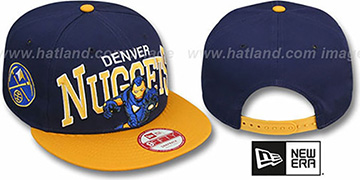 Nuggets CHALK-UP HERO SNAPBACK Navy-Gold Hat by New Era
