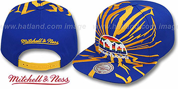 Nuggets EARTHQUAKE SNAPBACK Royal Hat by Mitchell & Ness