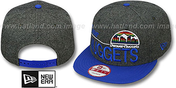 Nuggets FLANNEL SNAPBACK Grey-Royal Hat by New Era