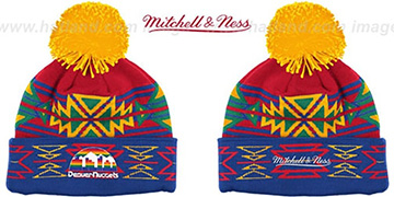 Nuggets 'GEOTECH' Knit Beanie by Mitchell and Ness