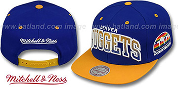 Nuggets GRADIANT-ARCH SNAPBACK Royal-Gold Hat by Mitchell & Ness