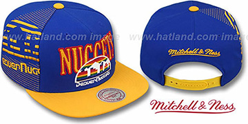 Nuggets 'LASER-STITCH SNAPBACK' Royal-Gold Hat by Mitchell & Ness