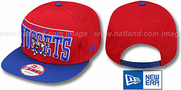 Nuggets 'LE-ARCH SNAPBACK' Red-Royal Hat by New Era